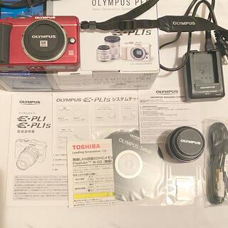 オリンパス(OLYMPUS)のオリンパス OLYMPUS E-PL1s 赤 レッド ミラーレスカメラ 一眼レフ(デジタル一眼)