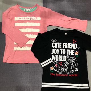 長袖シャツ2枚 110cm 女の子(Tシャツ/カットソー)