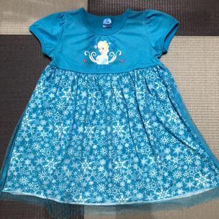 ディズニー(Disney)のすずらん様専用 Disney アナ雪エルサ 半袖ワンピース 110cm 女の子(ワンピース)