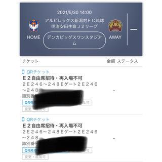 5/30 アルビレックス新潟vsFC琉球 E2自由席(サッカー)