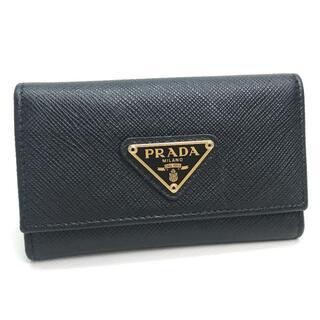 PRADA - PRADA プラダ サフィアーノ 6連キーケース NERO ブラック
