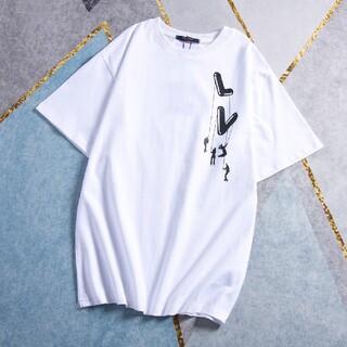 ルイヴィトン(LOUIS VUITTON)の夏の落下傘兵人形プリント半袖(Tシャツ(半袖/袖なし))