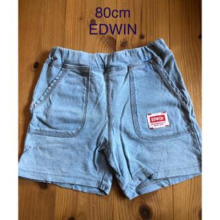 EDWIN - 80cm☆EDWINデニム風ハーフパンツ