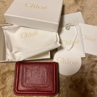 クロエ(Chloe)のカードケース ボルドー色(パスケース/IDカードホルダー)