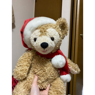 ディズニー(Disney)のディズニー クリスマス ぬいぐるみ ダッフィー オープンマウス 2007 赤タグ(キャラクターグッズ)