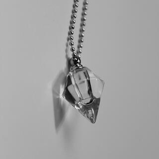 ダイヤ瓶 香水瓶 銀色ネックレス ゴシック やみかわ  ゆめかわ 原宿