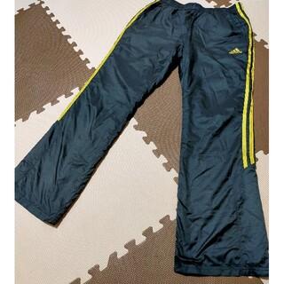 アディダス(adidas)の☆adidas アディダス ウインドブレーカーパンツ 黒&金ライン サイズM(ウェア)