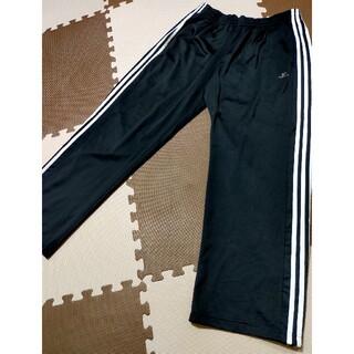 アディダス(adidas)の☆adidas ジャージパンツ 黒&白3本線 サイズO(その他)