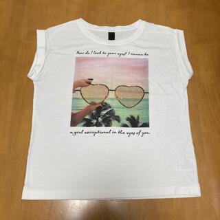 フレンチスリーブ Tシャツ 白(Tシャツ(半袖/袖なし))