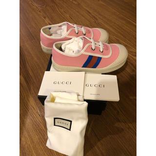 グッチ(Gucci)の未使用 GUCCI グッチ スニーカー 子供靴 キッズ レディース ピンク(スニーカー)