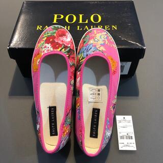 POLO RALPH LAUREN - ラルフローレン   フラットシューズ 花柄 ピンク 19cm