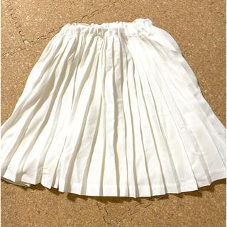 プティマイン(petit main)のプティマイン プリーツスカート ホワイト 100(スカート)