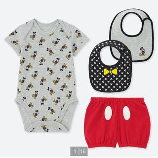 Disney - ユニクロ ロンパース ディズニー コレクション ミッキー