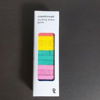 【新品】ジェンガ 5色スタッキングタワーゲーム フライングタイガー(知育玩具)