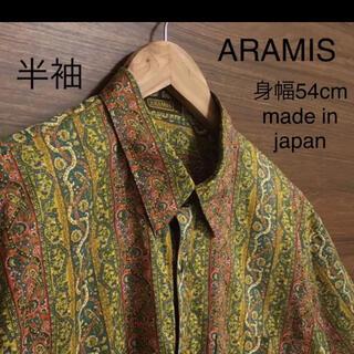 アラミス(Aramis)の美品 ARAMIS 綿 半袖 柄シャツ オリエンタル レトロ ビンテージ M(シャツ)
