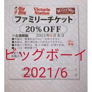 ビッグボーイ ファミリーチケット 1枚 20%オフ クーポン 割引 ゼンショー(その他)