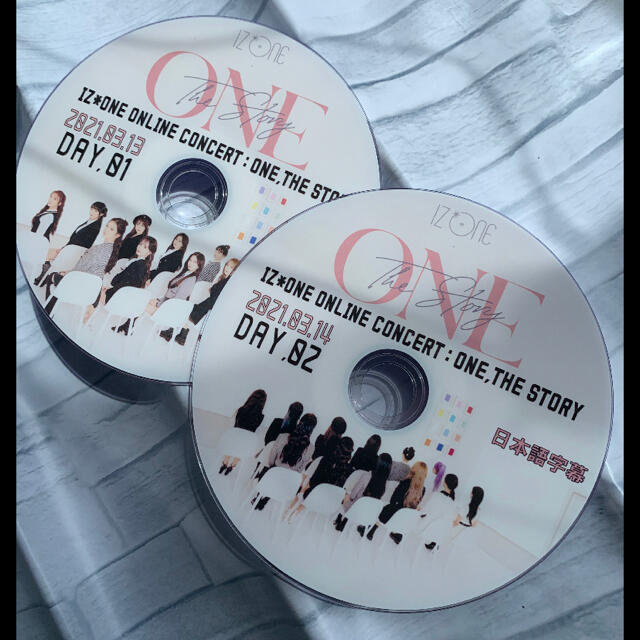 IZREEL(イズリール)のIZ*ONE♡オンライン ONE, THE STORY 2021★DVD2枚組  エンタメ/ホビーのDVD/ブルーレイ(ミュージック)の商品写真