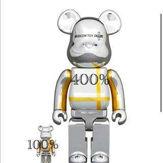 メディコムトイ(MEDICOM TOY)のBE@RBRICK SILVER CHROME Ver. 100% & 400%(その他)