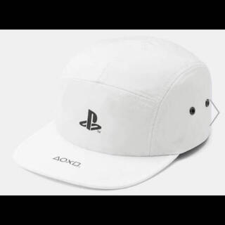 ジーユー(GU)のGU PlayStation キャップ ホワイト プレステ 帽子 白(キャップ)