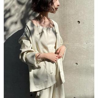 カスタネ(Kastane)の限定値下げ【美品】Chn vneck jacket kastane(ノーカラージャケット)