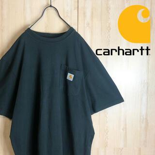 カーハート(carhartt)のCarhartt カーハート ポケT Tシャツ 肉厚 大きめ 刺繍 レア(Tシャツ/カットソー(半袖/袖なし))