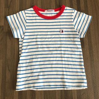 ファミリア(familiar)の【familiar】ボーダー 半袖Tシャツ 100(Tシャツ/カットソー)
