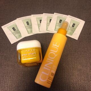 クリニーク(CLINIQUE)のCLINIQUE日焼け止め2個+洗顔フォーム試供品6個セット❗(洗顔料)