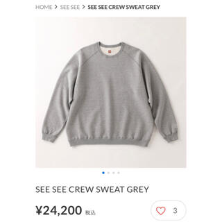 1LDK SELECT - SEE SEE CREW SWEAT GREY XL SFC スウェット