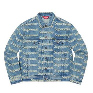 Supreme - Supreme Frayed Logo Denim Trucker Jacket