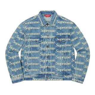 シュプリーム(Supreme)のSupreme Frayed Logo Denim Trucker Jacket(Gジャン/デニムジャケット)