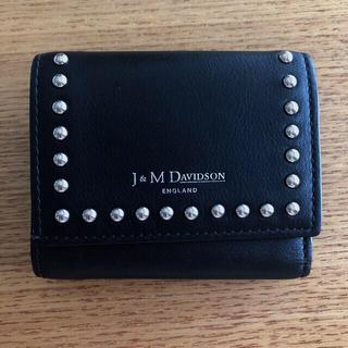 ジェイアンドエムデヴィッドソン(J&M DAVIDSON)のIENA J&M DAVIDSON 別注 スタッズミニ財布 美品(財布)