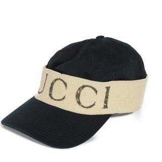 グッチ(Gucci)のグッチ ベースボールキャップ ヘアバンド キャップ ロゴ ブラック 492545(キャップ)