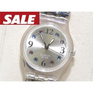 スウォッチ(swatch)のスウォッチ レディース 時計 ☆ クォーツ シルバーSS × カラークリスタル (腕時計)
