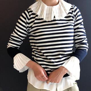 シップスフォーウィメン(SHIPS for women)のSHIPS Prymary Navy Lavel フリルブラウス シャツ(シャツ/ブラウス(長袖/七分))