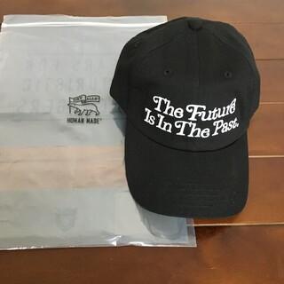 アベイシングエイプ(A BATHING APE)のgirls don't cry human made TWILL CAP 黒(キャップ)