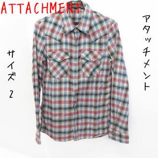 アタッチメント(ATTACHIMENT)のATTACHMENT/アタッチメント チェック柄 ウエスタン 長袖シャツ/2(シャツ)