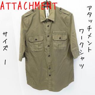 アタッチメント(ATTACHIMENT)のATTACHMENT/アタッチメント 半袖 ワークシャツ カーキ/1(シャツ)