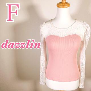 ダズリン(dazzlin)のdazzlin ダズリン 長袖ブラウス 韓国ファッション かわいい レース(シャツ/ブラウス(半袖/袖なし))