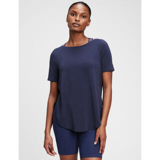 GAP - GAP fit ブリーズ半袖Tシャツ インディゴブルー