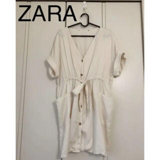 ZARA - ZARA♡チュニック ブラウス ホワイトベージュ