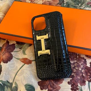 iPhone12/12pro クロコbag調 携帯ケース おまけ付き(iPhoneケース)