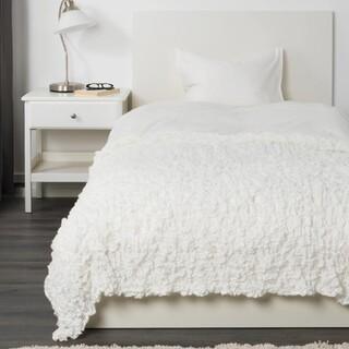 イケア(IKEA)のIKEA 毛布 ソファーカバー ホワイト オフェーリア(ソファカバー)
