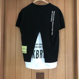 アナップキッズ(ANAP Kids)の新品 アナップガール レイヤード tシャツ ANAPgirl S  (Tシャツ/カットソー)