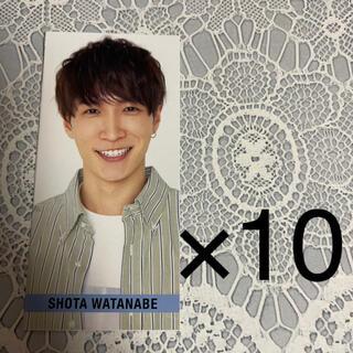 ジャニーズ(Johnny's)のMyojo SMILE メッセージカード SnowMan 渡辺翔太 10枚(アイドルグッズ)