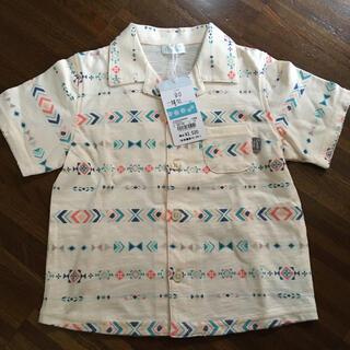 コンビミニ(Combi mini)の新品タグ付き combimini サイズ90 襟付きシャツ(Tシャツ/カットソー)