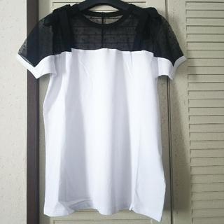 レッドヴァレンティノ(RED VALENTINO)のレッドヴァレンティノレースリボントップス新品(Tシャツ(半袖/袖なし))