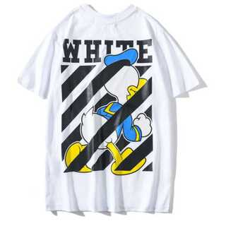 メンズ Tシャツ 白 ホワイト オフホワイト レディース ドナルド ディズニー(Tシャツ/カットソー(半袖/袖なし))