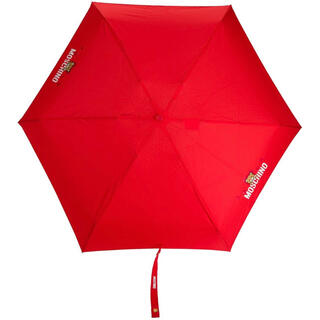 モスキーノ(MOSCHINO)の【新作】モスキーノ ベア 折りたたみ傘 レッド(傘)