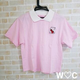 ダブルシー(wc)のW♡C  襟付き Tシャツ(Tシャツ(半袖/袖なし))
