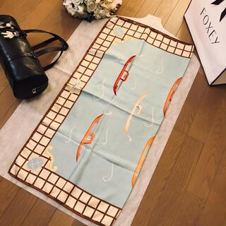 ブルガリ(BVLGARI)のブルガリ スカーフ 水色とブラウンがステキです。(バンダナ/スカーフ)